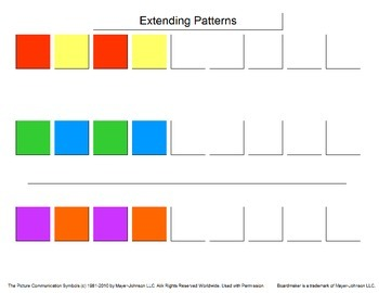 Extending Patterns for Students with Autism/Special Needs