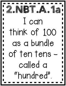 """Extending the Understanding of Base 10"" Guided Math I Can Cards"
