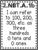 """""""Extending the Understanding of Base 10"""" Guided Math I Can Cards"""