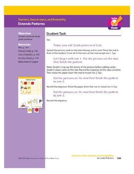 Extends Patterns (Math Assessment PreK)