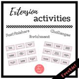 Extension Activities - EFL FREEBIE