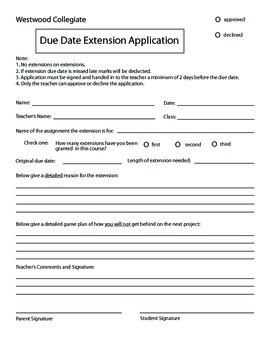 Extension Application