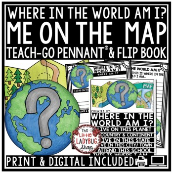 Map Skills Flip Book and Geography Activity [Where in The World Am I?]