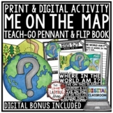 Map Skills Flip Book and Geography Activity [Where in The
