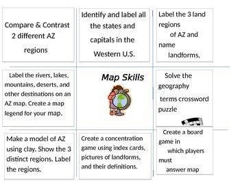 Extension Map - Arizona Map Skills