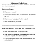 Extension Project Log Template