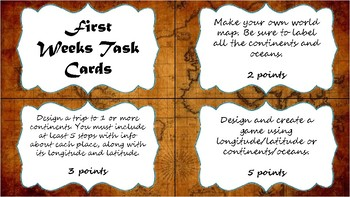 Extension Project Task Cards:  Geography & World Religions