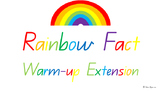 Extension Rainbow Fact/ Bridging to ten/ Make to ten Classroom Math Warm-up