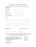 Extension Request (student and teacher use)