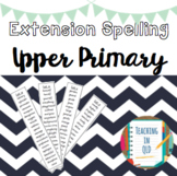 Extension Spelling Lists UPPER PRIMARY