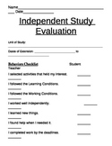 Extension Work Rubric & Reflection