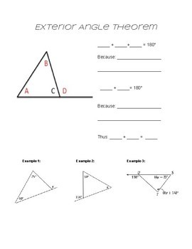 Exterior Angle Theorem Notes for Students