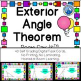 Exterior Angle Theorem Boom Cards --Digital Task Cards