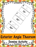 Exterior Angle Theorem Domino Activity