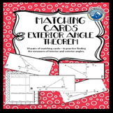 Exterior Angle Theorem Matching Card Set with Bonus Pages