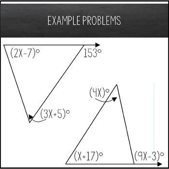 Exterior Angle Theorem Maze - Solving Equations