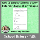 Exterior Angle of a Triangle Theorem for Interactive Notebooks