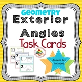Exterior Angles Task Cards Geometry Review Activity