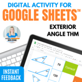 Exterior Angles Theorem Digital Activity for Google Drive