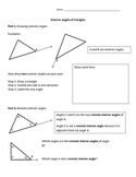 Exterior Angles of Triangles