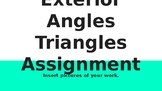 Exterior Angles of Triangles Google Slides Assignment