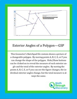 Exterior Angles of a Polygon -GSP