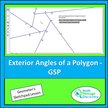 Geometry:  Exterior Angles of a Polygon -GSP