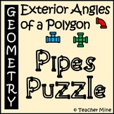 Exterior Angles of a Polygon - Pipes Puzzle Activity