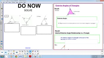 Exterior Angles of a Triangle - Can be used in Geometric I