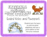 External Animal Adaptations (Guided Notes and Powerpoint)