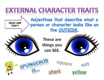 External and Internal Character Traits Posters