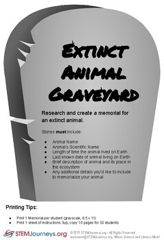 Extinct Animal Memorial Graveyard