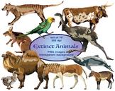 Extinct Animals Clip Art Set