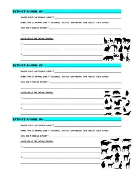 Extinct Animals Research (Webquest)