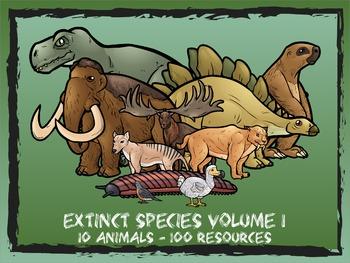 Extinct Species Volume 1 -- 10 Wild Animals -- 100 K-2 Resources