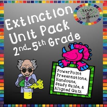 Extinction Unit Pack- Science PowerPoints, Handouts, Study Guide, & Quiz!