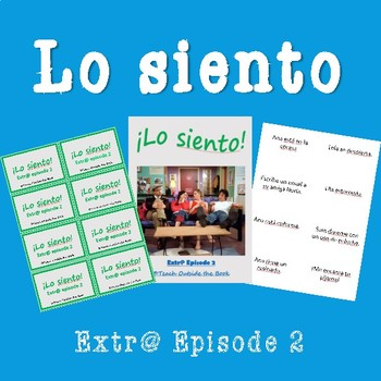 Extr@ en español Episode 2 ¡Lo siento! Card Game (Spanish Extra)