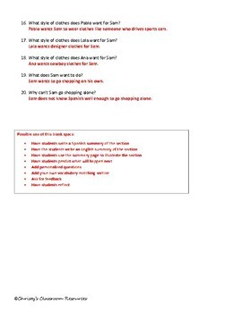 Extr@ en español Episode 2 Section 1 Summary with questions (Spanish Extra)