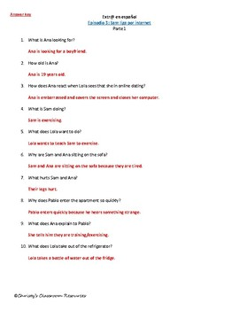 Extr@ en español Episode 3 Section 1 Summary with questions (Spanish Extra)