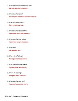 Extr@ en español Episode 3 Section 3 Summary with questions (Spanish Extra)
