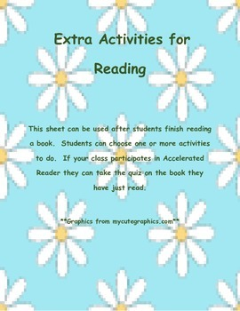 Extra Activities For Reading