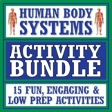 Human Body Systems Fun Activity Bundle NGSS MS-LS1-3  *SAVE 30%*