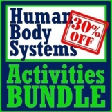 Human Body Systems Fun Activity Bundle NGSS MS-LS1-3  *SAVE OVER 30%*