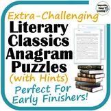 Extra-Challenging Anagram Reading Puzzles: Classic Literat