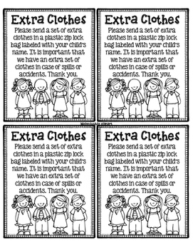 Extra Clothes Note Home