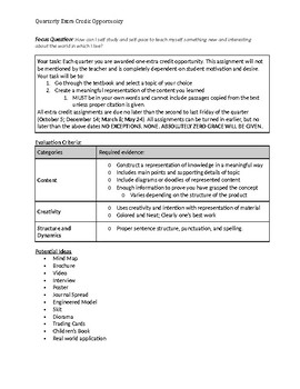 Extra Credit Assignment (Editable)