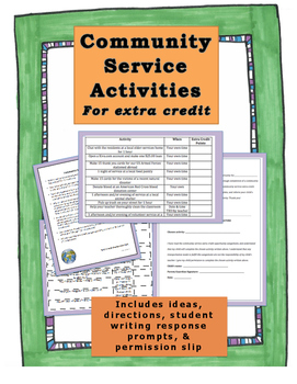 Community Service Extra Credit Activities & Response