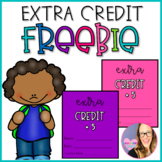 Extra Credit Coupons- FREEBIE
