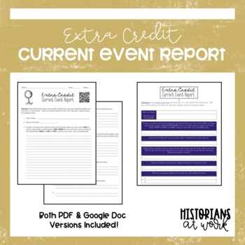Extra Credit Current Event Report