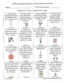 Extra Credit Language Arts Activities ~ Theme 4, 5, and 6 ~ 2nd Semester